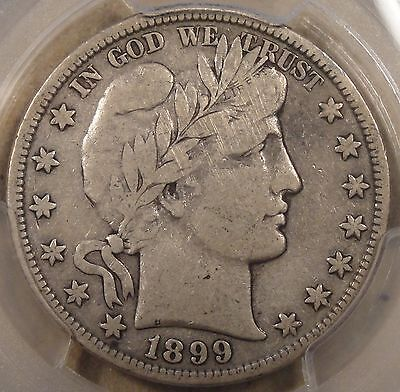 1899-S Barber Half Dollar PCGS F15 There is an old light patch of scratches goin