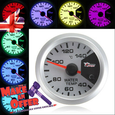 Water Temperature Meter Gauge 7 Colors 52 mm Car LED Thermometer
