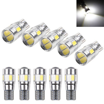 2x T10 501 194 W5W 5630 LED SMD Car HID Canbus Error Free Wedge Light Bulbs Top