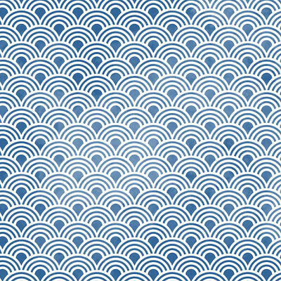 Scallop Repeating Pattern Wall Stencil - DIY Home Decor Pattern Template
