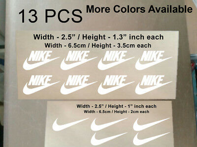 13 Pcs Nike Iron On Heat Press Nike Poly Flex Patch Sports Logo Diy T Shirt