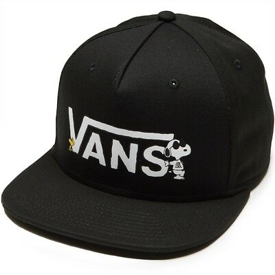 Vans Off The Wall X Peanuts Snoopy Black Hat Mens Hat Cap NWT Snapback c851591513d