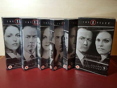 The X-Files Complete Season 9 Collection Box Set - 5 PAL VHS Video Tapes
