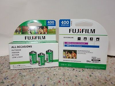 NEW! 3 Pack Fuji Superia X-TRA CH ISO 400 36 Exp. 35mm Color Film Each, 11/2019