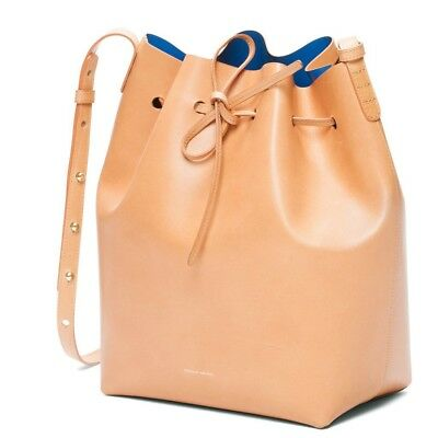 f4f712e249092 NWT Authentic Mansur Gavriel Bucket Leather Bag Cammello Royal Size Mini  (MEDIUM