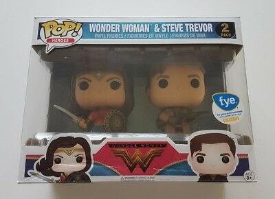 Funko Pop Heroes Wonder Woman & Steve Trevor 2 Pack FYE Exclusive