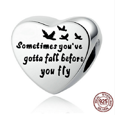 Authentic 925 Sterling Silver Heart Of Freedom Love Screw Charms pandora