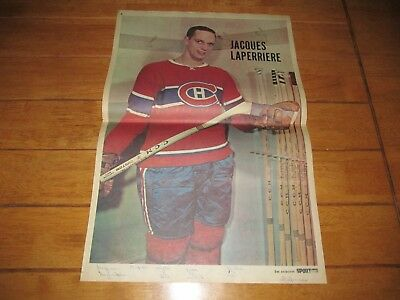 1967-68 Vintage Hockey Poster JACQUES LAPERRIERE Montreal Canadiens 15.5x22.5in.