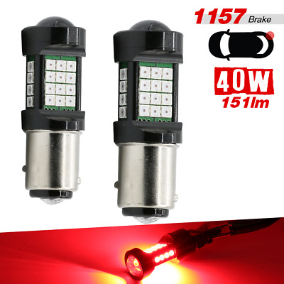 1157 BAY15D Red 2-Bulb 3030 Chip 36SMD High Power Bright Brake Tail Stop Light