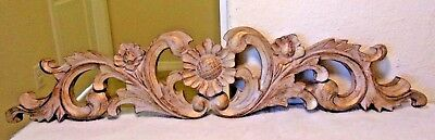 Beautiful French Style Flowers Pediment Header Great Over A Doorway Or Mirror