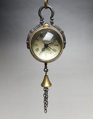 SUPERB COLLECTIBLES COPPER CARVED Crystal ball CLOCK WATCH PENDANT