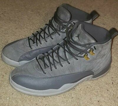 new products b7a06 34d26 AIR JORDAN RETRO 12 XII SIZE 11.5 Mens Dark Grey Wolf Suede. WORE ONLY 3  TIMES!!