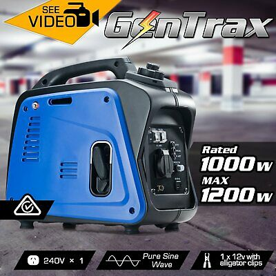[15%OFF]GenTrax Inverter Generator 1.2KW Max 1KW Rated Pure Sine Petrol Portable