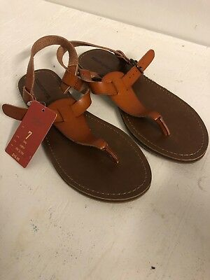 66e5afbdc39 MOSSIMO SUPPLY CO Womens Size 7 Leather Thong Sandals -  5.90