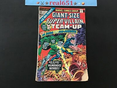SUPER-VILLAIN Dr. DOOM SUB-MARINER #2 | Giant-Size | Bronze Age | Vintage Comics