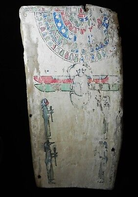ZURQIEH - as10758- ANCIENT EGYPTIAN PAINTED WOOD PANEL. 600 - 300 B.C