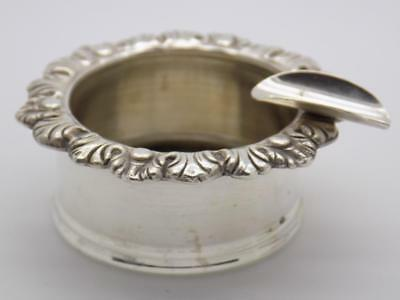 Vintage Solid Silver Italian Made Personal Ash Tray Ashtray, Stamped