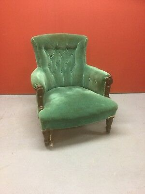Antique Victorian Button Back Chair Sn-44a