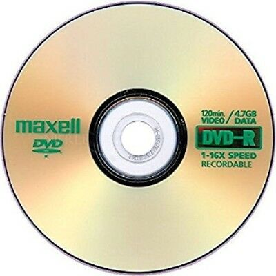 10 Pack Maxell Gold Edition DVD-R 16x/4.7GB Discs