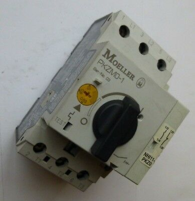 Moeller Thermal Motor Overload PKZMO-1  0.63-1A  + Aux Contacts 1x N/O & 1x N/C