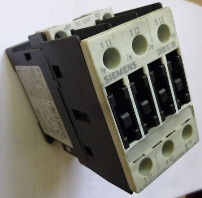 Siemens  Motor Contactor  Sirus 3RT1036-1BB44   24V DC  50A  3-pole Din Rail