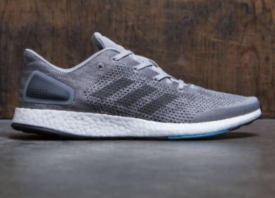 1d8f4a8b9a4bd Adidas PureBoost DPR BOOST Men s Running Shoes Gray Black Blue S820 (SIZE  12)