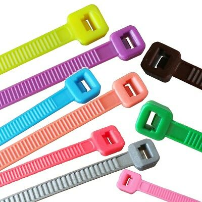100 x Cable Tie Different Lengths and Colors (0,26 €/ 1pc)