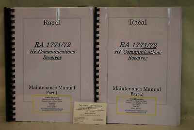 Racal RA 1771/72 HF Communications Receiver Maintenance Manual Part 1&2 - Copy