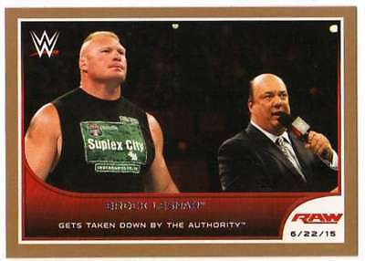 2016 Topps WWE Road to Wrestlemania Bronze Parallel #50 Brock Lesnar