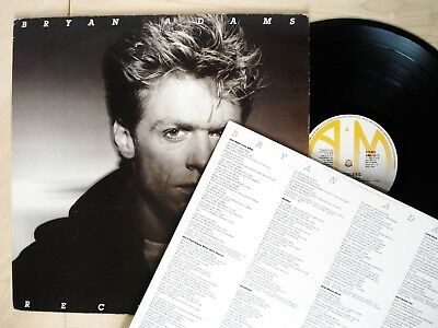 Bryan Adams Reckless + Inner UK LP Run To You Summer Of '69 A&M AMA5013 1984 EX+