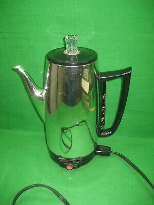 Vintage JC Penny 9 Cups Immersible Percolator Coffee Maker Model 2545