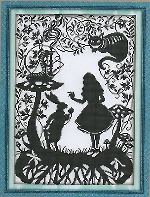 Counted Cross Stitch Kit Alice In Wonderland