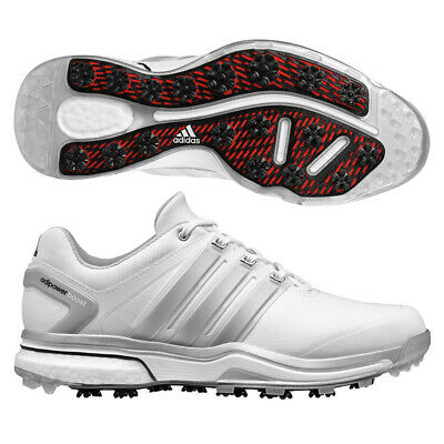 0586b0eed60c Adidas Adipower Boost Golf Shoes Running White Silver Metallic Running  White 9 M