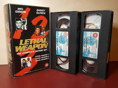 Lethal Weapon 1,2,3, The Complete Action Set - Box Set PAL VHS Video Tapes