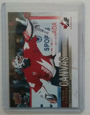 17/18 Grant Fuhr Upper Deck Team Canada Canvas Tcc 48 Ssp 2017