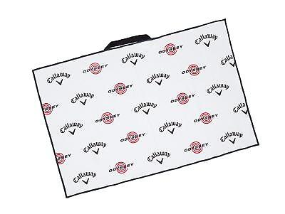 """Callaway/Odyssey Golf 2019 Microfiber Players Towel - 30""""x20""""  COLOR: White"""