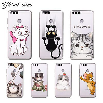 cute cartoon Cat mouse Coque For Huawei Honor 9 Lite 10 9 7c 7a 7x 7a Pro Play 8