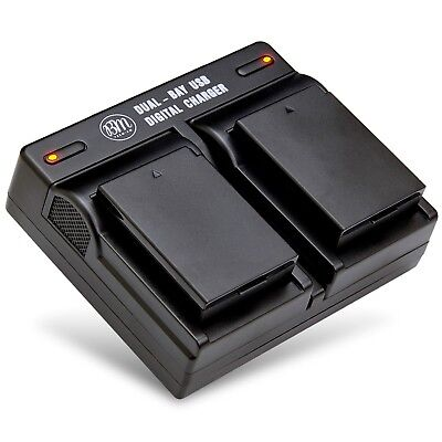 BM Premium Battery (2-Pack) and Dual Charger for Canon LP-E10