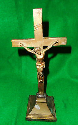 ANTIQUE CRUCIFIX, in GILT METAL, LATE VICTORIAN, EARLY 20th CENTURY, NICE...