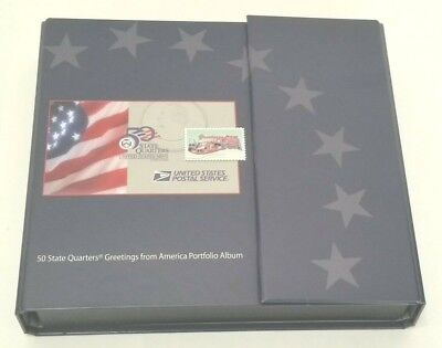 USPS State Quarters Greetings From America - WITH Stamps & Quarters Lot of 25