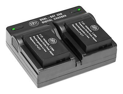 BM Premium Battery (2-Pack) and Dual Charger for Canon LP-E17