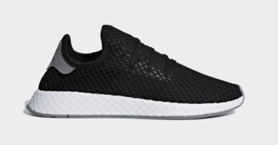 outlet store 0ccca 0257e Adidas Originals Deerupt Runner Black White Mens Lifestyle Sneaker B41765  NWB