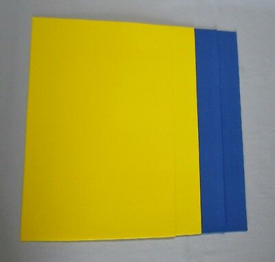"2 Blue 2 Yellow Foamies Primary Foam Sheets 12"" X 18"" Total of 4 Sheets"