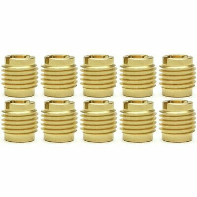 "Ten (10) 5/16""-18 Brass Knife Threaded Inserts For Wood 