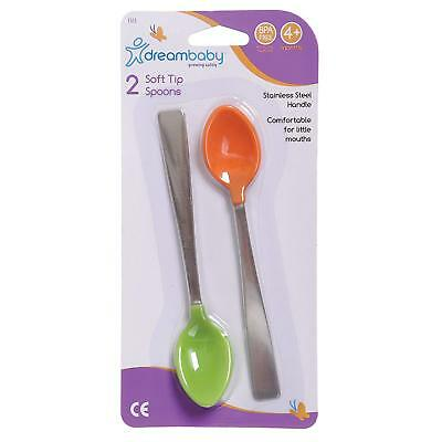 Dreambaby Soft Tip Spoons with Metal Handle (Pack of 2)