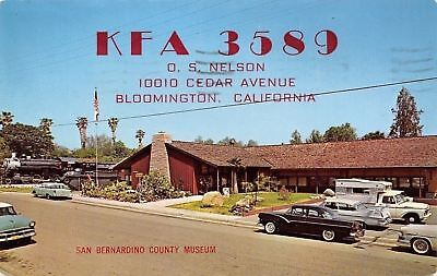 Bloomington California~San Bernardino County Museum~Train~Nice 1950s Cars