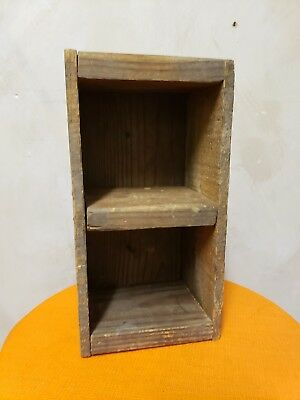 Antique Vintage Primitive Old Wood Drawer ~ Tool ~ Trinket Box, Two Compartments