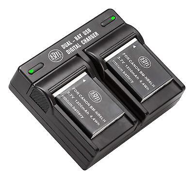 BM Premium Battery (2-Pack) and Dual Charger for Canon NB-6L, NB-6LH