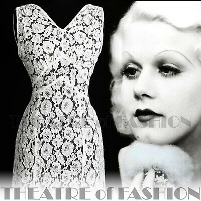 DRESS 30s WEDDING LACE JACKET 20s VINTAGE 40s GATSBY DECO CROCHET GODDESS ICON