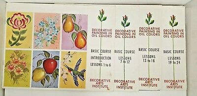 Decorative Painting Oil Colors Basic Course Lessons Arts Institute Craft Guide